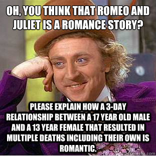 romeo and juliet 3 day relationship