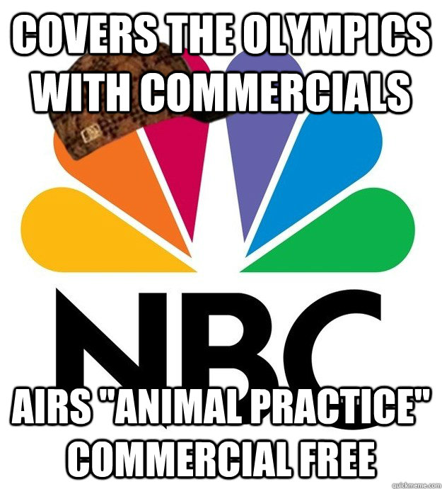 covers the olympics with commercials airs