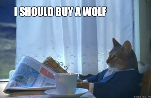 I should buy a wolf - I should buy a wolf  Sophisticated Cat