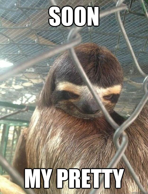 SOON MY PRETTY - Creepy Sloth - quickmeme