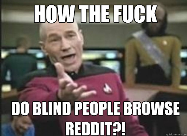 How the fuck Do blind people browse reddit?!