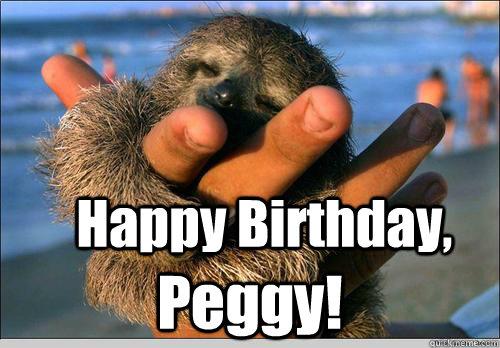 Happy birthday peggy
