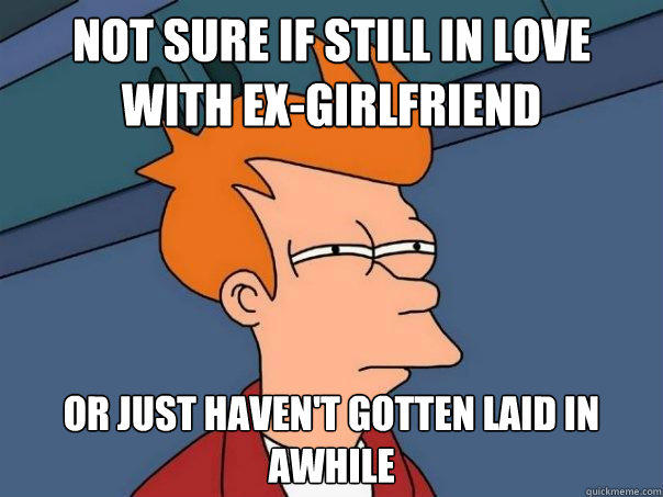 Not sure if still in love with ex-girlfriend or just haven't gotten laid in awhile - Not sure if still in love with ex-girlfriend or just haven't gotten laid in awhile  Futurama Fry