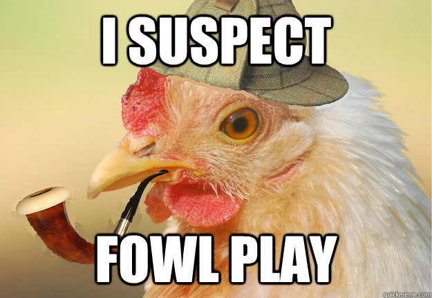 Funny Chicken: I Suspect Fowl Play