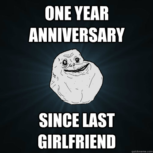 one year anniversary since last girlfriend  Forever Alone