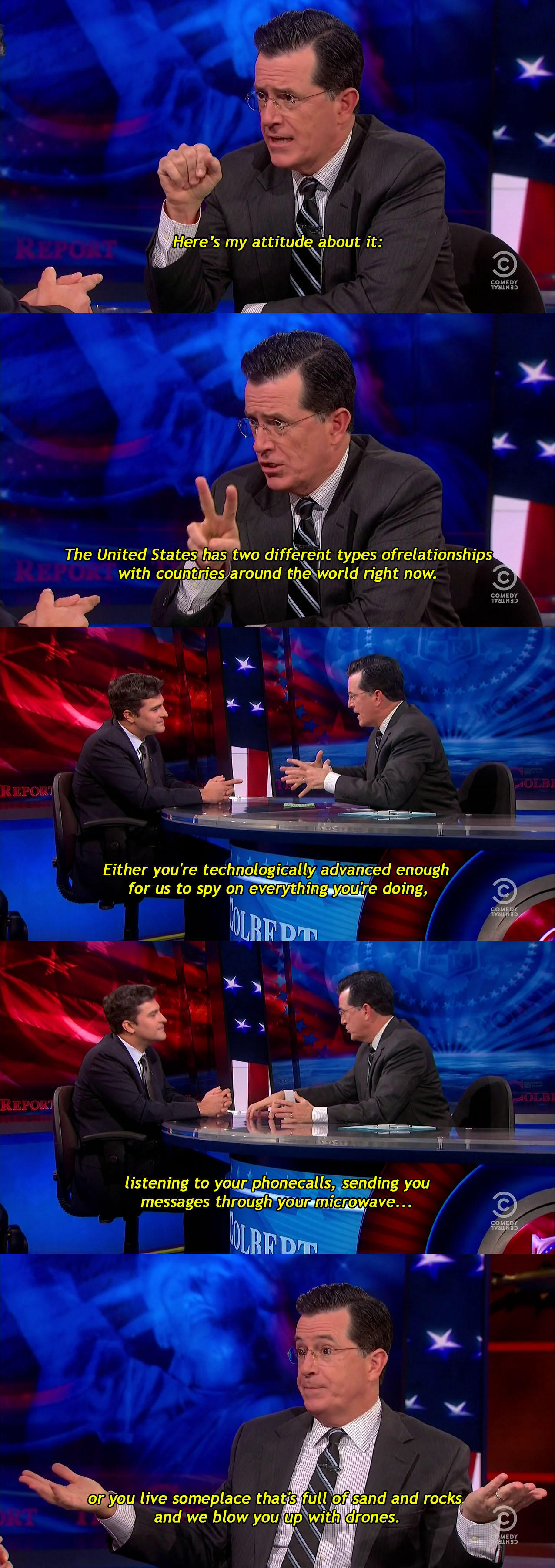 Colbert on U.S. relations with the rest of the world  -   Misc