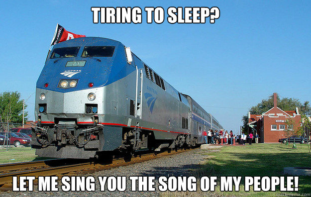 Tiring to sleep? Let me sing you the song of my people!