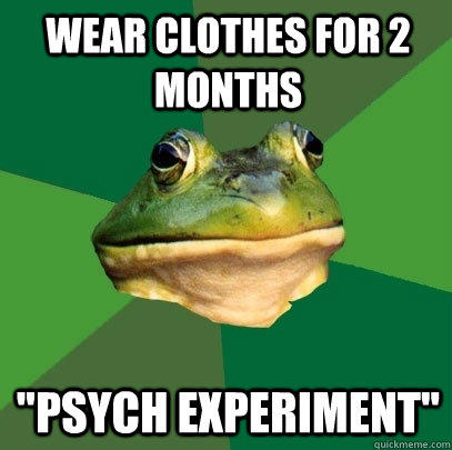 WEAR CLOTHES FOR 2 MONTHS
