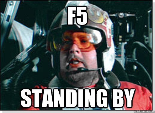 f5 Standing by - f5 Standing by  Red Leader