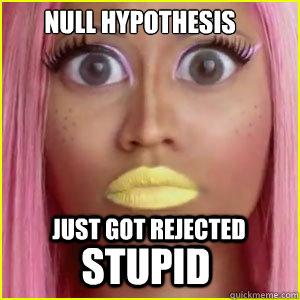 Null Hypothesis Just got rejected STUPID  nicki minaj psychology