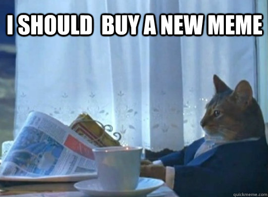 I should  Buy a new meme  - I should  Buy a new meme   Sophisticated Cat