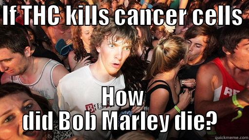 IF THC KILLS CANCER CELLS  HOW DID BOB MARLEY DIE?  Sudden Clarity Clarence