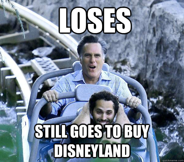 Loses still goes to buy disneyland