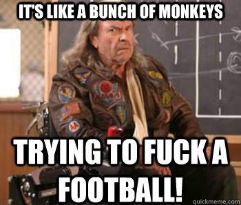 Monkey humping a football