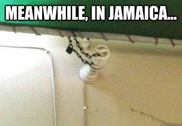 MEANWHILE, IN JAMAICA...