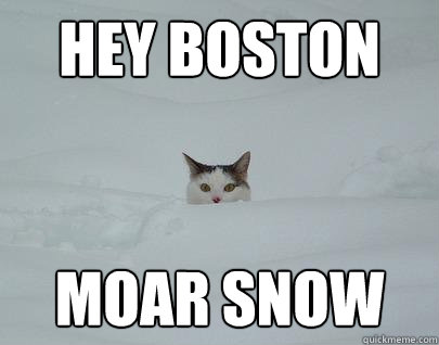 hey boston moar snow  Snowpocalypse11