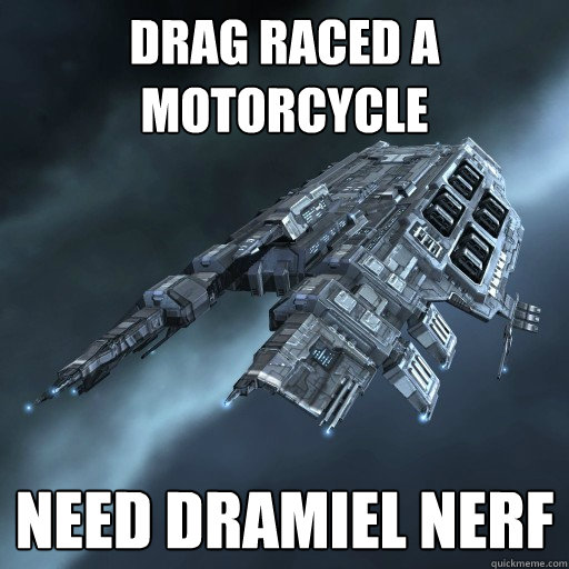 drag raced a motorcycle need dramiel nerf