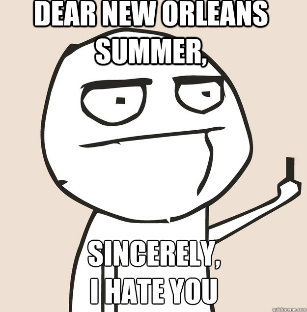 dear new orleans summer, sincerely,  i hate you