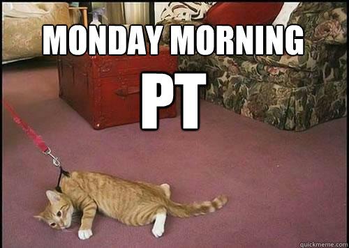 monday morning  PT