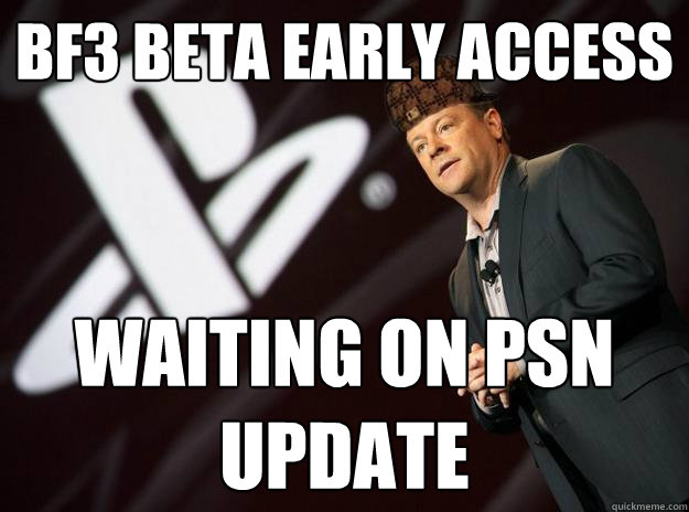BF3 beta early access waiting on psn update