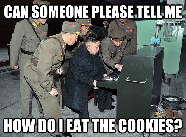 Can someone please tell me How do i eat the cookies? - Can someone please tell me How do i eat the cookies?  kim jong un