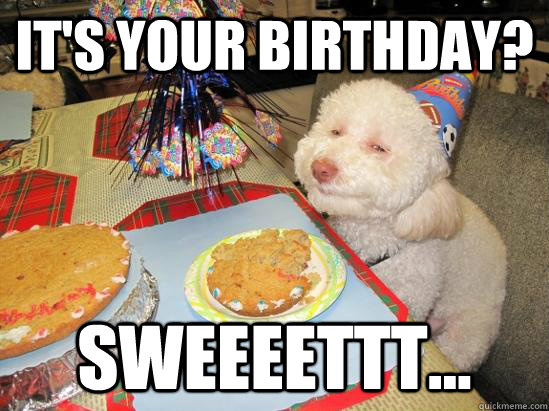 it's your birthday? sweeeettt...  birthday meme