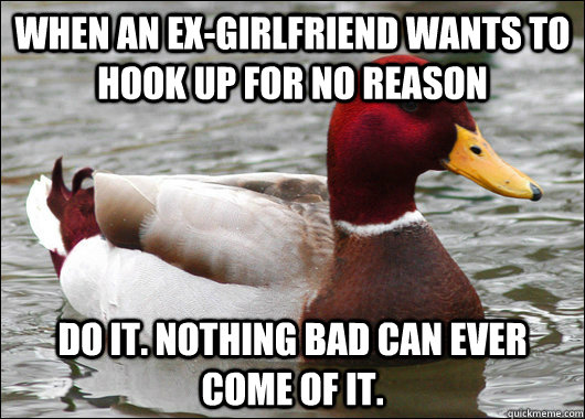 Is it bad to hook up with your ex