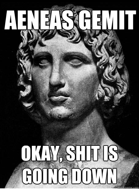 aeneas gemit okay, shit is going down - aeneas gemit okay, shit is going down  Vergil