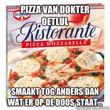 wat op de pizza