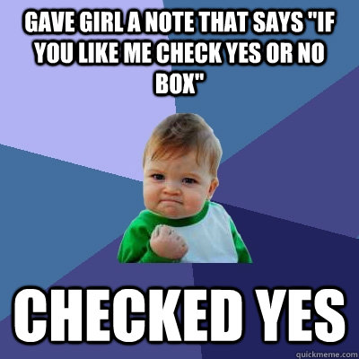 gave girl a note that says