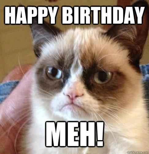 HAPPY BIRTHDAY MEH!  Happy Birthday Angry Cat