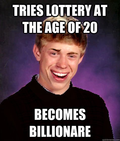 Tries lottery at the age of 20 Becomes Billionare - Tries lottery at the age of 20 Becomes Billionare  Good Luck Brian