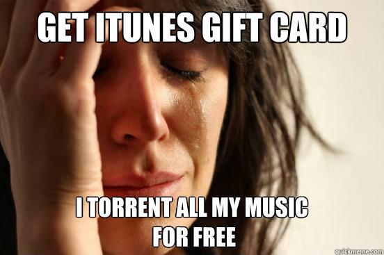 itunes torrented music