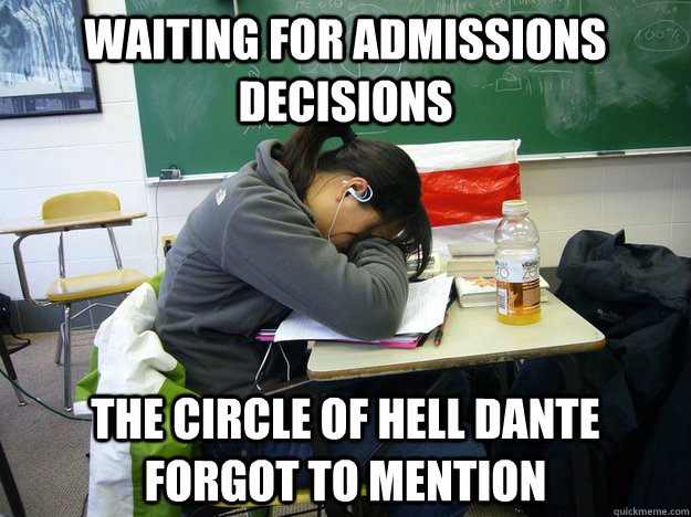 Waiting for admissions decisions The circle of hell Dante forgot to mention