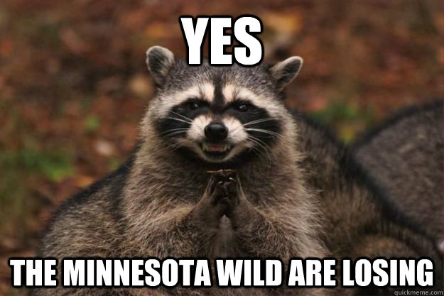 Yes The Minnesota Wild are losing - Yes The Minnesota Wild are losing  Evil Plotting Raccoon