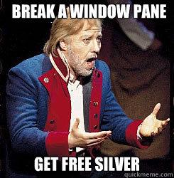Break a Window Pane Get free silver