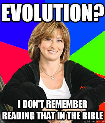 evolution? I don't remember reading that in the bible - evolution? I don't remember reading that in the bible  Sheltering Suburban Mom