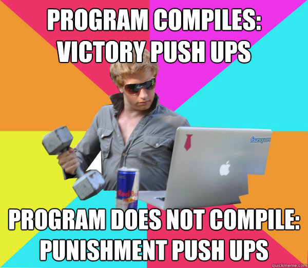 Program Compiles: Victory Push ups Program Does not Compile: Punishment Push ups