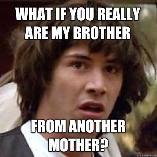 Funny Meme For Brother : What if you really are my brother from another mother