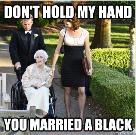 Former racist marries black