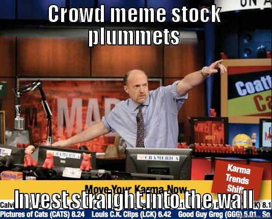 CROWD MEME STOCK PLUMMETS INVEST STRAIGHT INTO THE WALL Mad Karma with Jim Cramer