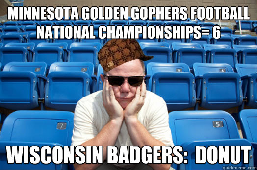 Minnesota Golden Gophers Football National Championships= 6 Wisconsin Badgers:  Donut