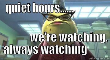 quiet hours - quickmeme