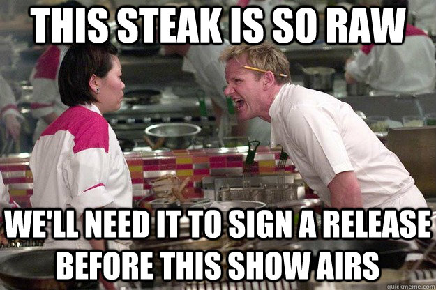 THIS STEAK IS SO RAW we'll need it to sign a release before this show airs