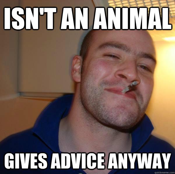 Isn't an animal  Gives Advice anyway - Isn't an animal  Gives Advice anyway  Misc