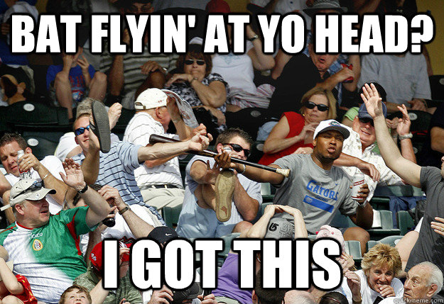 bat flyin' at yo head? i got this - bat flyin' at yo head? i got this  Misc
