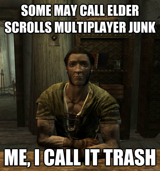Some may call Elder Scrolls Multiplayer JUNK Me, I call it trash