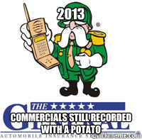 2013 commercials still recorded with a potato