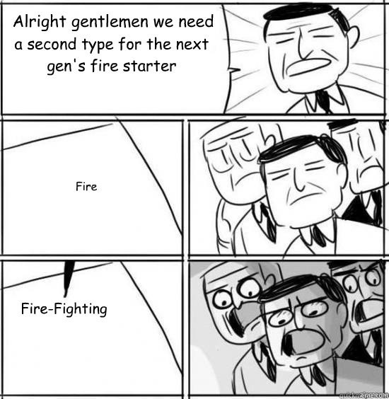 Alright gentlemen we need  a second type for the next gen's fire starter Fire Fire-Fighting