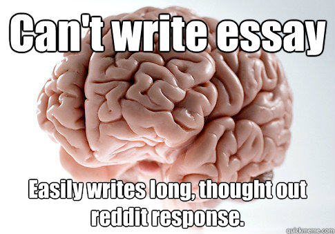 Can t write essay